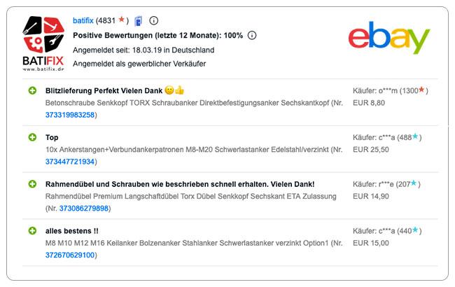 Bewertung ebay neu 2