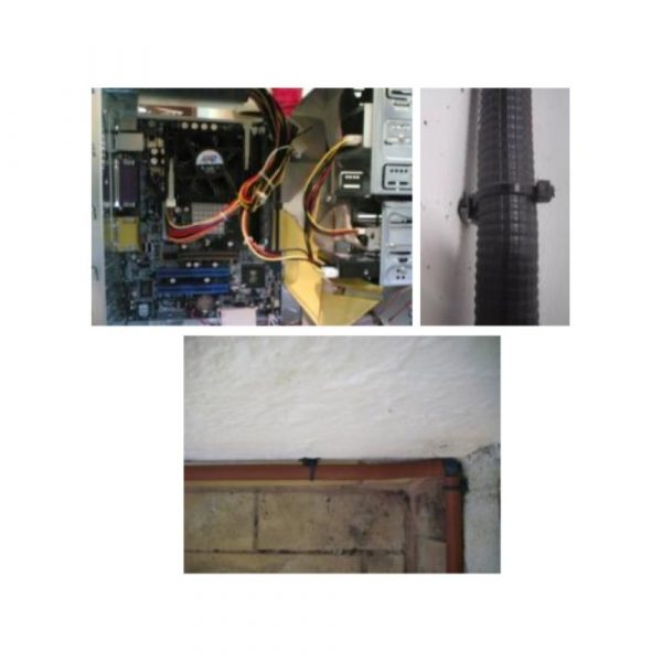 Kabelbinder Anwendung