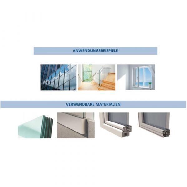 Montagekleber transparent Anwendung