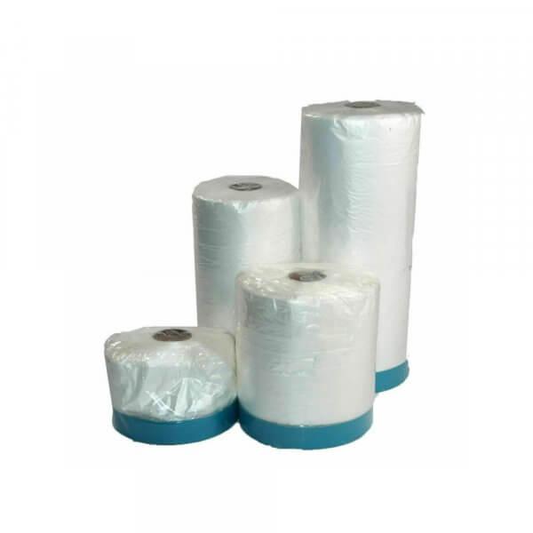 Masker Tape UV Gewebeband mit ausfaltbarer Abdeckfolie für Innen- Außenbereich