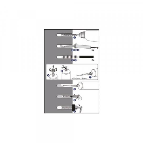 Innengewindeanker M8 M10 M12 Innengewindehülse Gewindehülse für Verbundmörtel